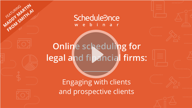 Online scheduling for legal and financial firms